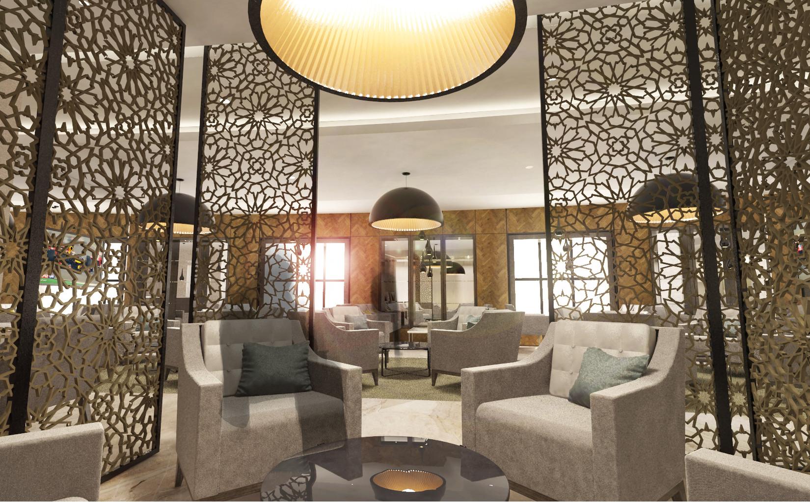 Hilton Executive Lounge Within Private Area