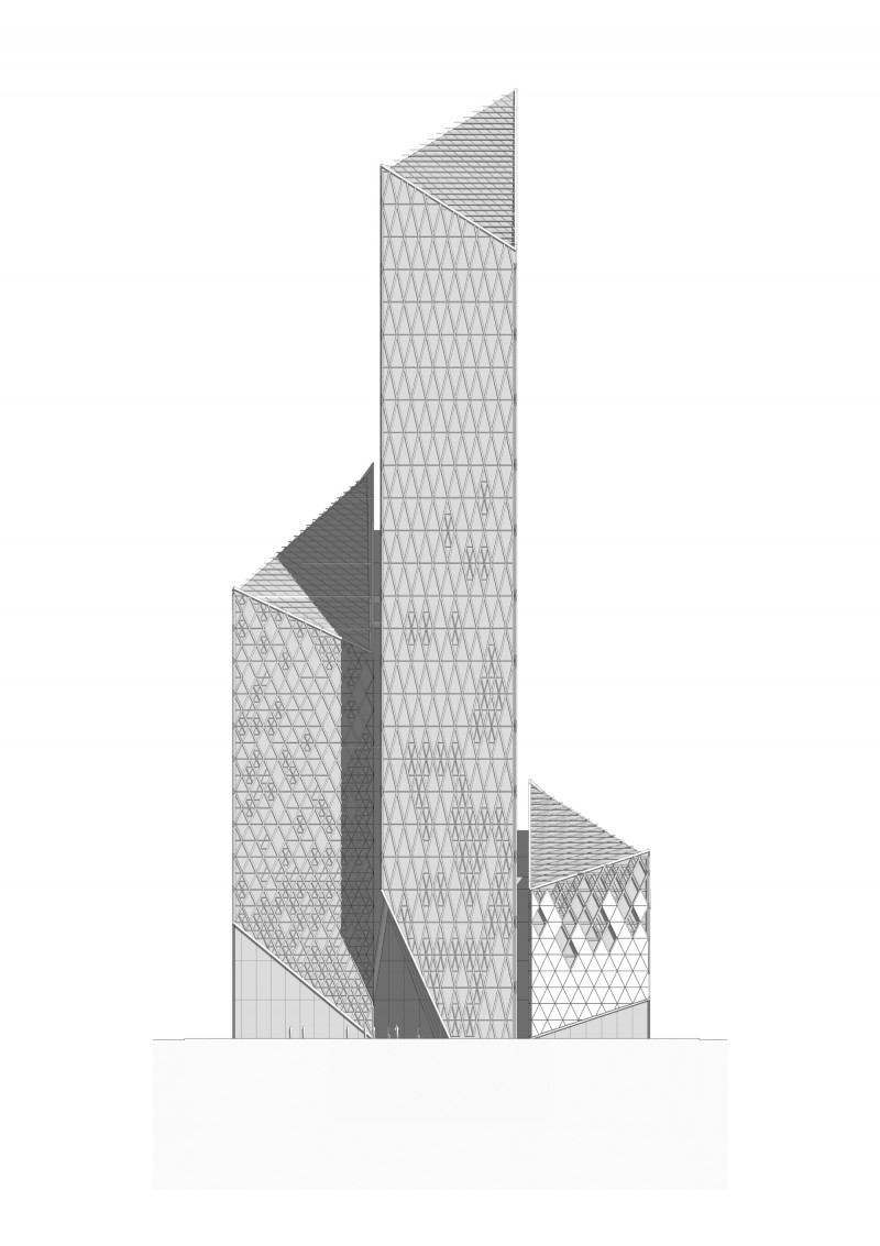 Vision Capital Tower Elevation Back