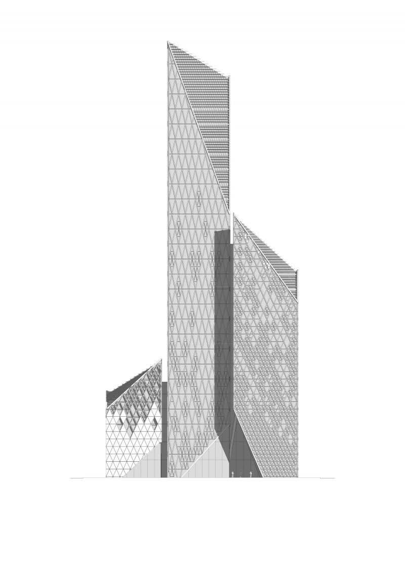 Front Elevation Tower : Vision capital tower carbon creative
