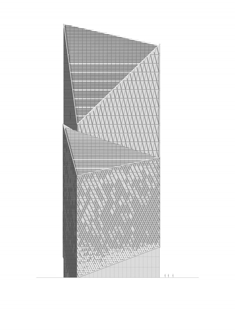 Vision Capital Tower Elevation Side