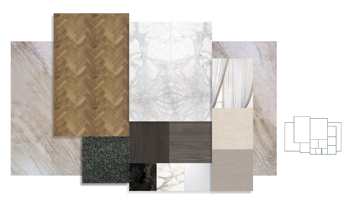 Hilton Executive Lounge Material Palette