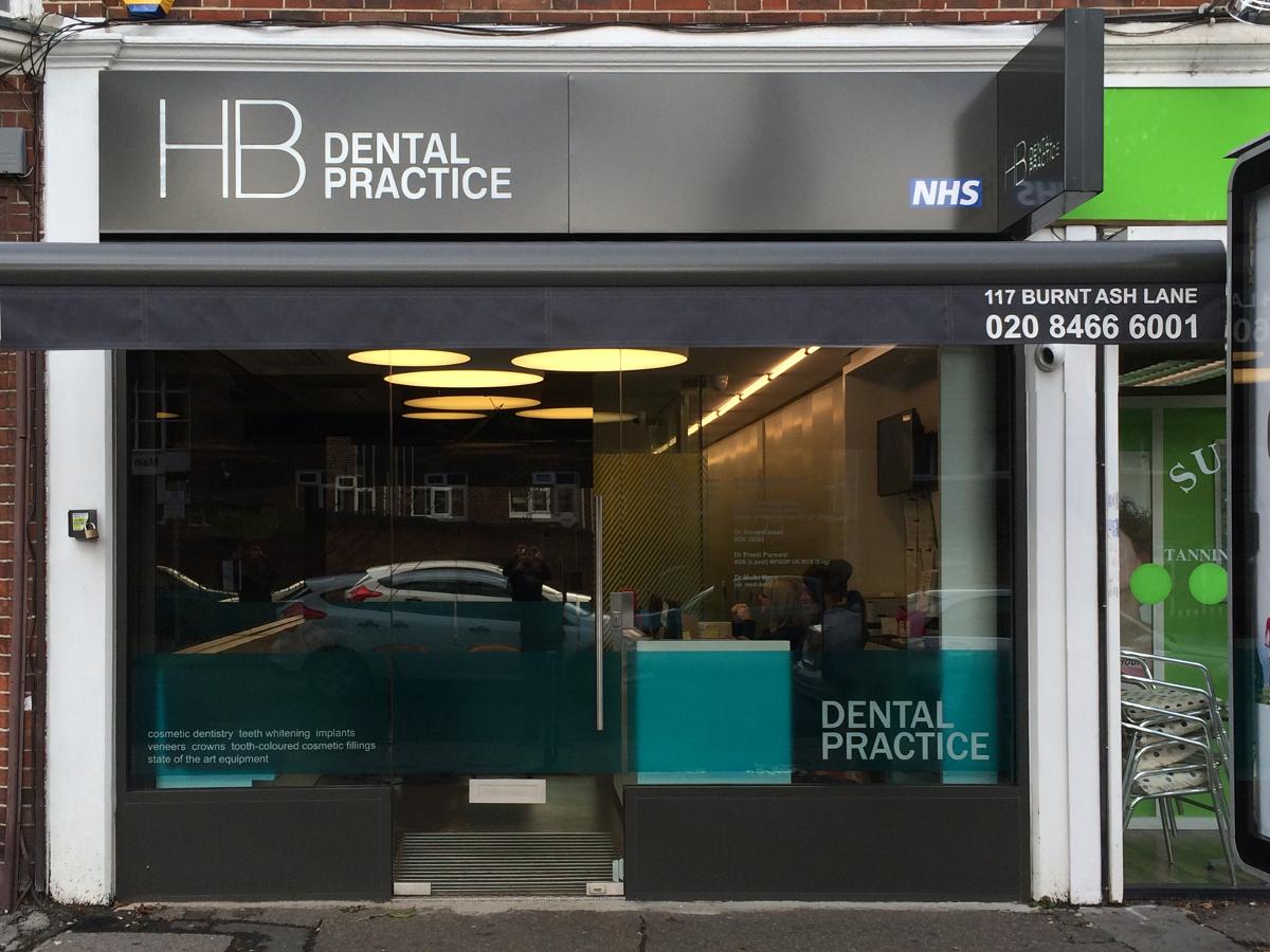 HB Dental Shop Front