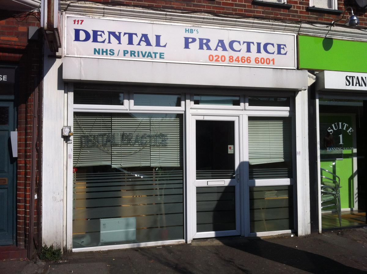 HB Dental Shop Front Before
