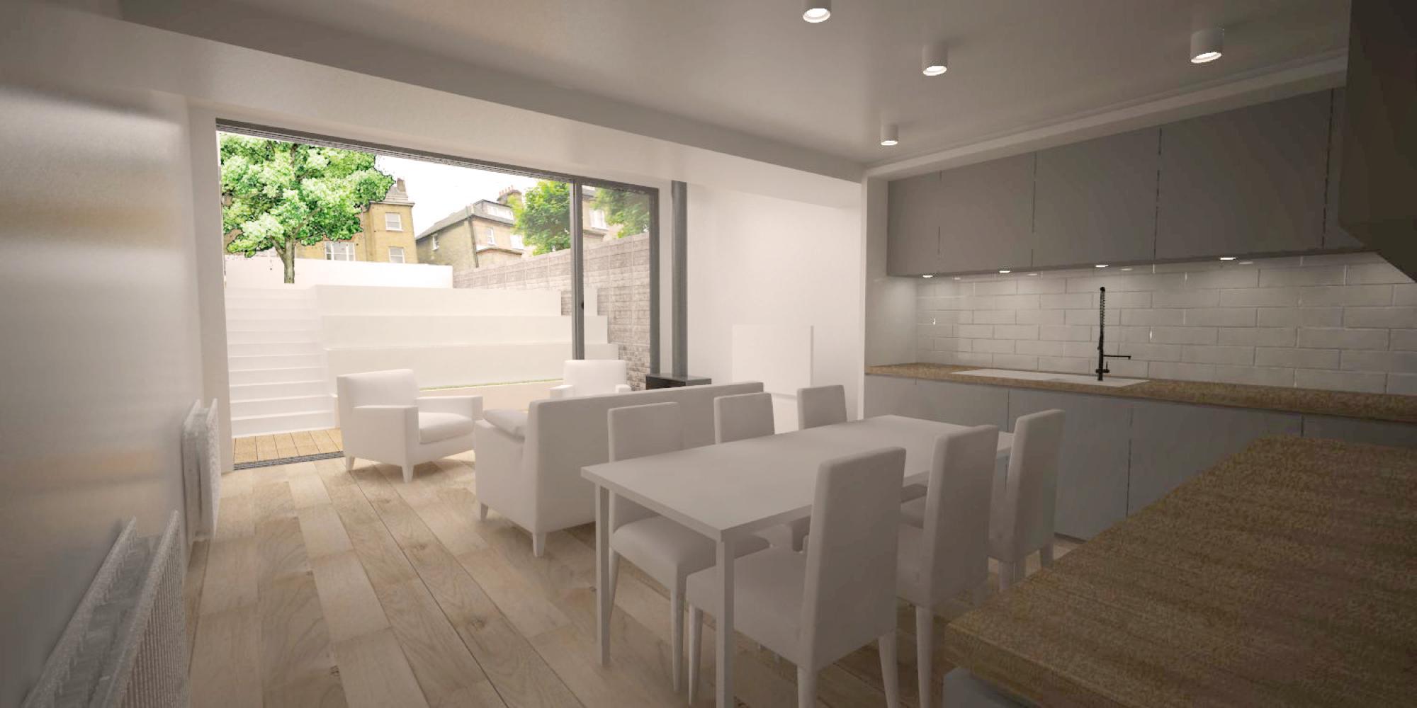 N7 Extension Living Room Rendering