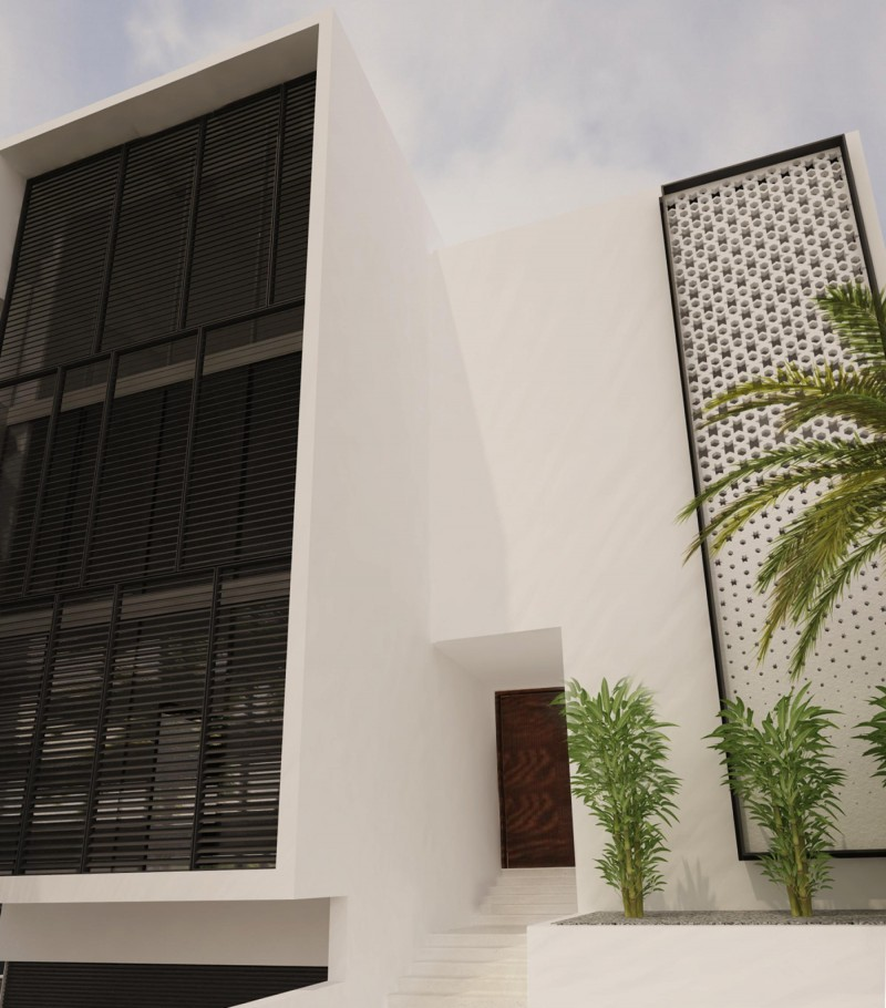 Jeddah Townhouses Front Entry