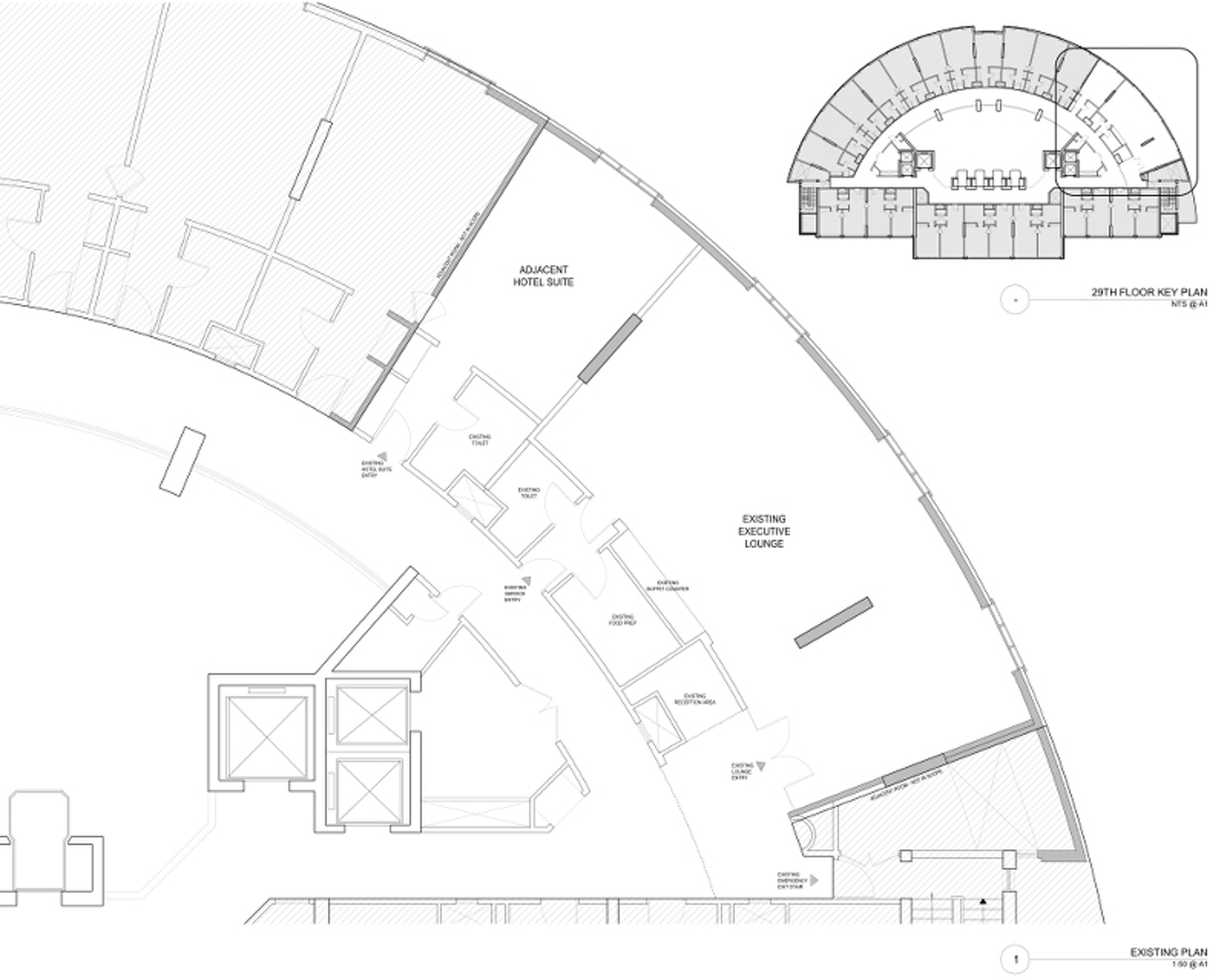 Hilton Executive Lounge Existing Plan