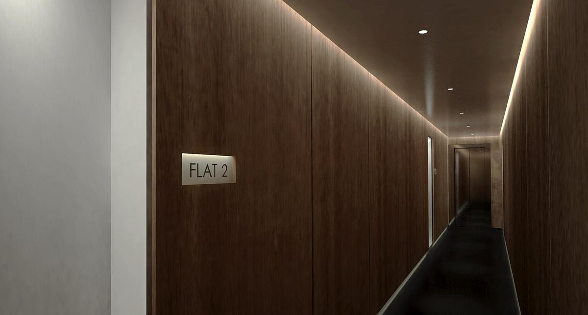 Rowdah Apartment Hallway
